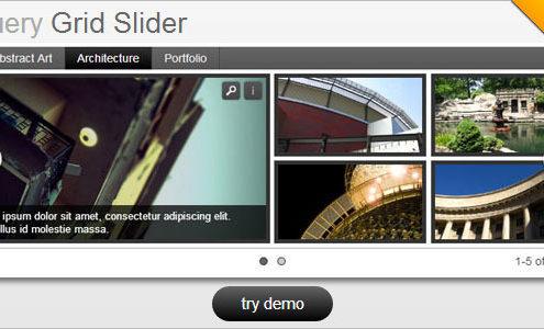 jQuery Grid Style Slider