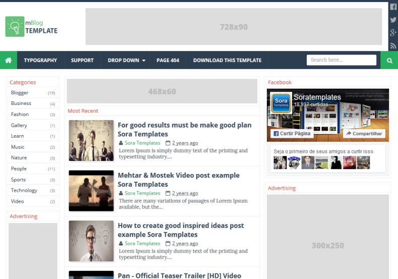 mBlog Blogger Template. Blogger Themes. Free Blogspot templates for your blogger blog. Best suitable for news blog templates. Best Ads ready blogspot templates help for add adsense ad code and easily showing adsence ads in your blog. Adapted from WordPress templates are converted from WordPress themes. It is help for take your rich. Blogger magazine template specially designed for magazine blogs. The writers can utilize this themes for take blog attractive to users. Elegant themes are more used themes in most of the blogs. Use minimalist blog templates for rich look for your blog. Free premium blogger themes means, themes authors release two types of themes. One is premium another one is free. Premium templates given for cost but free themes given for no cost. You no need pay From California, USA. $10 USD, or $20 USD and more. But premium buyers get more facilities from authors But free buyers. If you run game or other animation oriented blogs, and you can try with Anime blog templates. Today the world is fashion world. So girls involve to the criteria for make their life fashionable. So we provide fashion blogger themes for make your fashionable. News is most important concept of the world. Download news blogger templates for publishing online news. You can make your blog as online shopping store. Get Online shopping store blogger template to sell your product. Navigation is most important to users find correct place. Download drop down menu, page navigation menu, breadcrumb navigation menu and vertical dropdown menu blogspot themes for free. Google Guide to blogging tips and tricks for bloggers. Google bloggers can get blogspot trick and tips for bloggers. Blog templates portfolio professional blogspot themes, You can store your life moments with your blogs with personal pages templates. Video and movie blogs owners get amazing movie blog themes for their blogs. Business templates download. We publish blogger themes for photographers. Photographers easily share photos via photography blog themes. St valentine Christmas Halloween templates. Download Slideshow slider templates for free. Under construction coming soon custom blogspot template. Best beautiful high quality Custom layouts Blog templates from templateism, soratemplates, templatetrackers, simple, cute free premium professional unique designs blog themes blogspot themes. Seo ready portfolio anime fashion movie movies health custom layouts best download blogspot themes simple cute free premium professional unique designs xml html code html5. mBlog Blogger Template