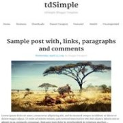 tdSimple Responsive Blogger Template
